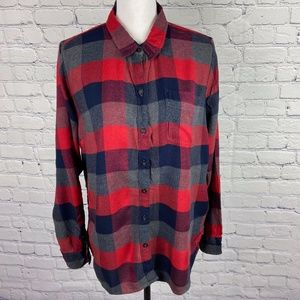 Lucky Brand Plaid Button Front Long Sleeve Shirt